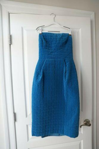 Vintage 1960s Jean Patou Blue Velvet Dress - Strap