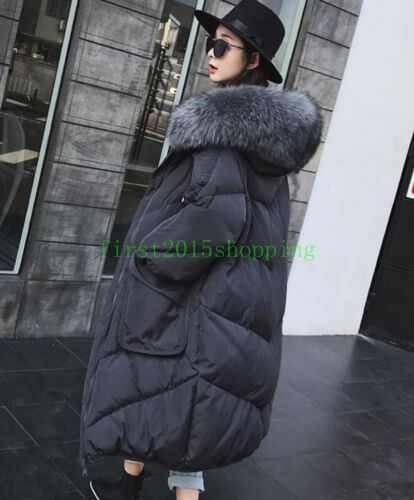 Long Winter Hooded Jacket Coat 2018 Down Women's Parka Mink Ny Fur Puffer qgHzw7O
