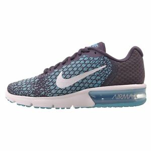 Details about Nike Air Max Sequent 2 Mens Running Shoes Dark Raisin White 5.5 M US