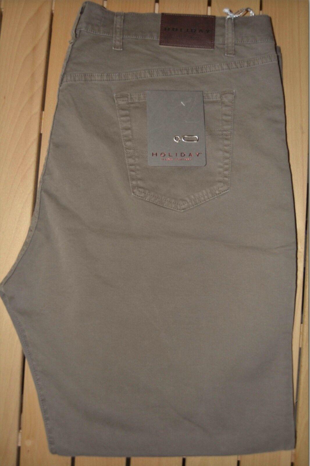 Pantalone uomo jeans taglie forti 62 64 66 68 HOLIDAY cotone strech tabacco