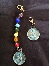 Bhum mala marker clip swastika gem chakra stone Buddhist prayer bead LP Rock 108