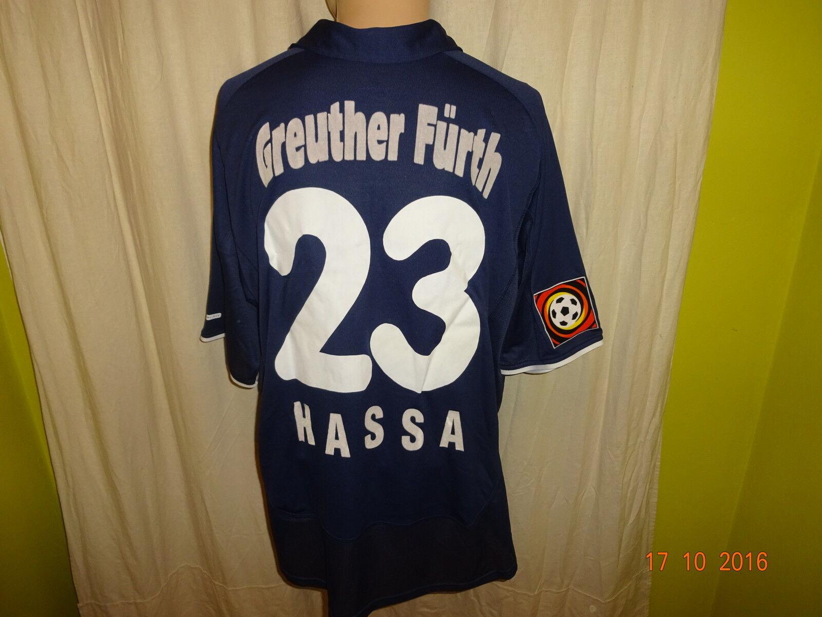 SpVgg Greuther Fürth Nike Ausweich Ausweich Ausweich Matchworn Trikot 2001 02 + Nr.23 Hassa Gr.XL 684a61