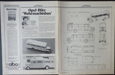Amabile Opel Blitz Wehrmachts-bus Esecuzione Militare... Un Modello Relazione #1983-ung....ein Modellbericht #1983 It-it Mostra Il Titolo Originale Diversificato Nell'Imballaggio