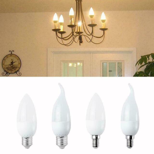 LED Bulb Chandelier Flame Candle Light E27/E14 Lamp 2835SMD 3W J4T0