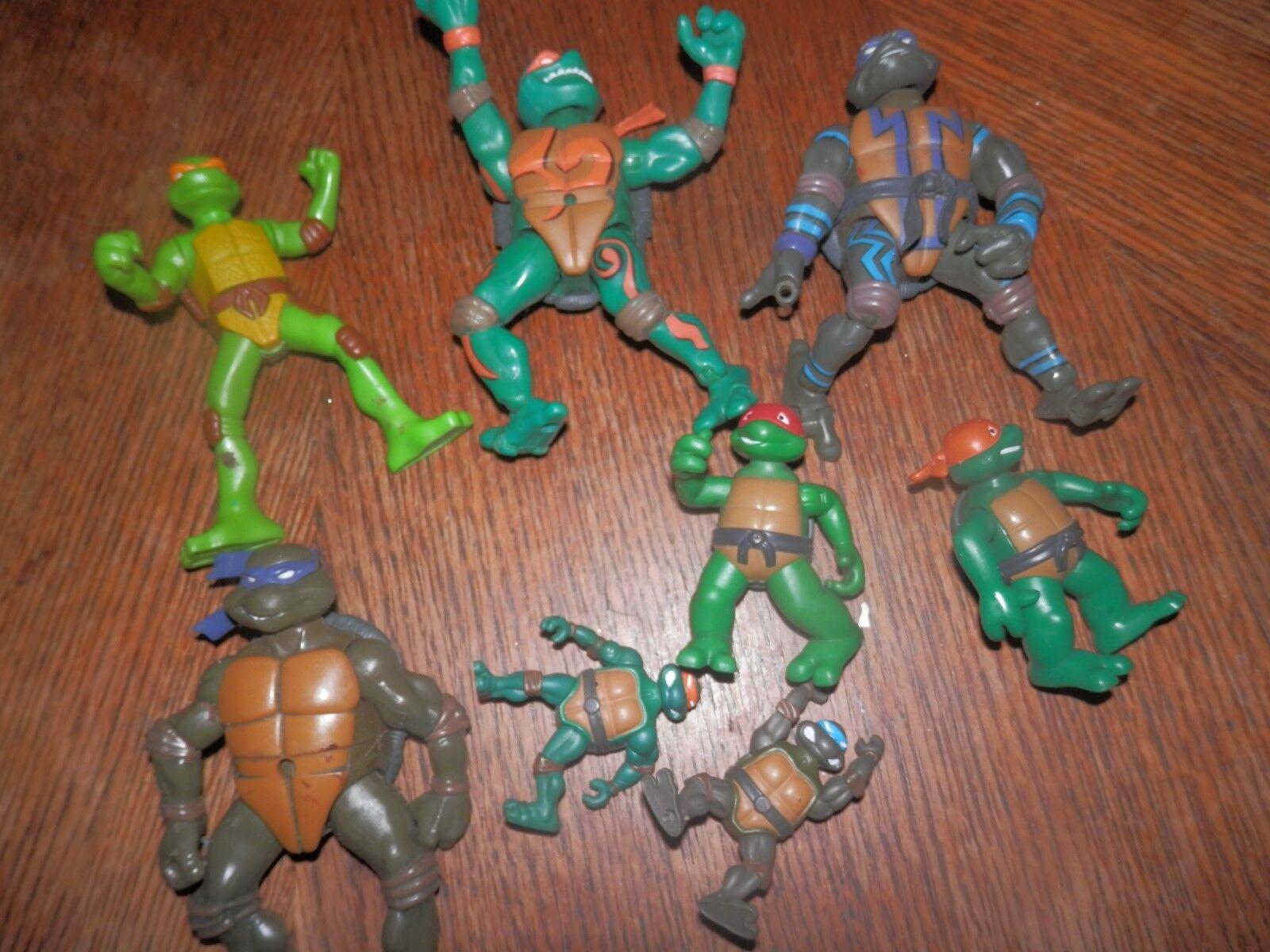 Teenage Mutant Ninja Turtles Action Figure Lot - 1980's