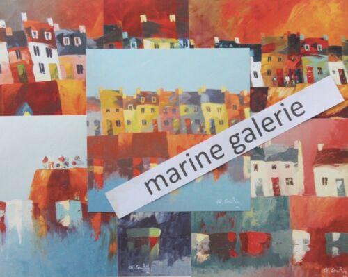 Breton bigouden cartes Cambier à encadrer déco marine port quai Lot de 7 carrées