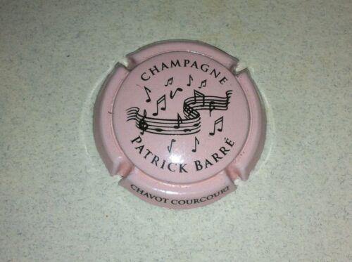 1. rose-pâle et noir Capsule de champagne BARRE Patrick