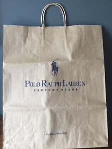 Details about Polo Ralph Lauren Factory Store Large Brown Paper Shopping  Bag 16