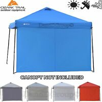 Ozark Trail Sun Wall 10'x10' Straight Canopy Shade Sunscreen Shelter Windbreak