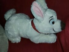"DISNEY STORE 14"" Plush MC BOLT Dog Lying Down White Lightning Stuffed Animal Lg"