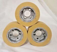 Ro 08 Rubber Power Feeder Rollerwheel 80mm X 30mm Set Of 3