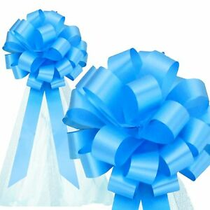 Strange Details About 6 Sky Blue 8 Pull Bows With Tulle Tails Wedding Church Pew Chair Gift Decor Interior Design Ideas Clesiryabchikinfo