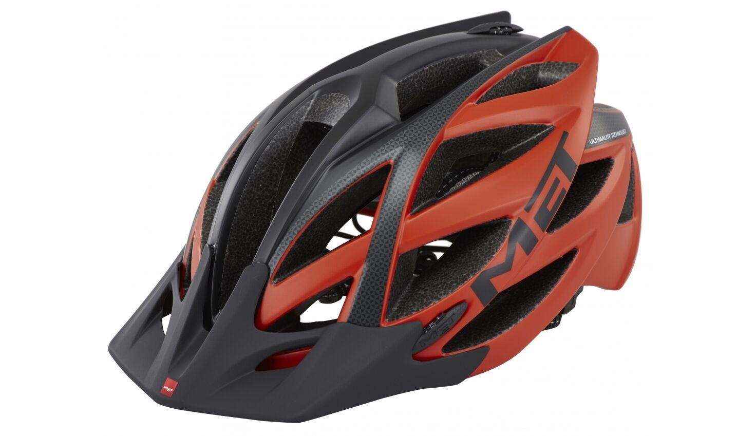 Casco Bici MET KAOS Mod. UL red black MATE HELMET MET kaos RED black Mate
