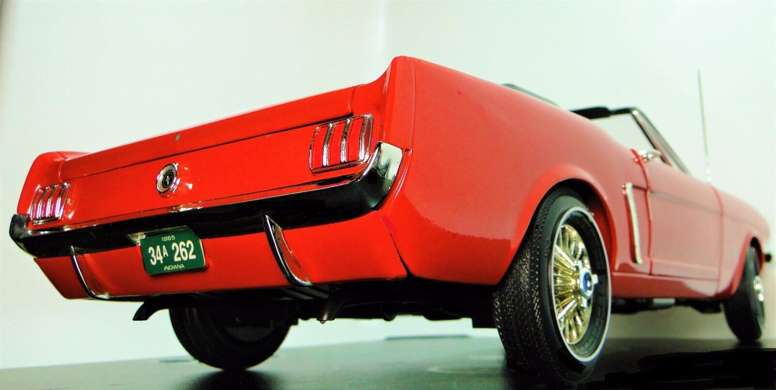 Ford Mustang 15 pulgadas de largo Metal Modelo a 1965 GT 1 T Race Sport Car Vintage 40