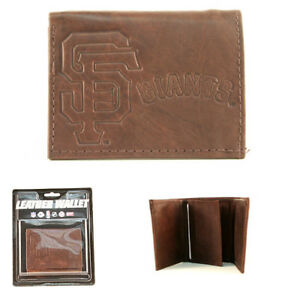 Rico MLB San Francisco Giants Tri-Fold Leather Wallet
