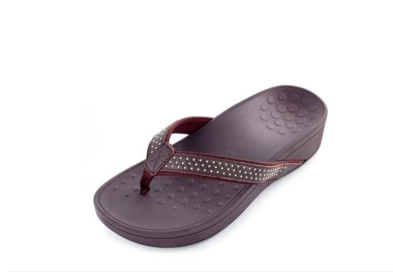NEW Vionic Orthotic Pacific Kehoe Wedge Sandal with FMT Technology PLUM 11