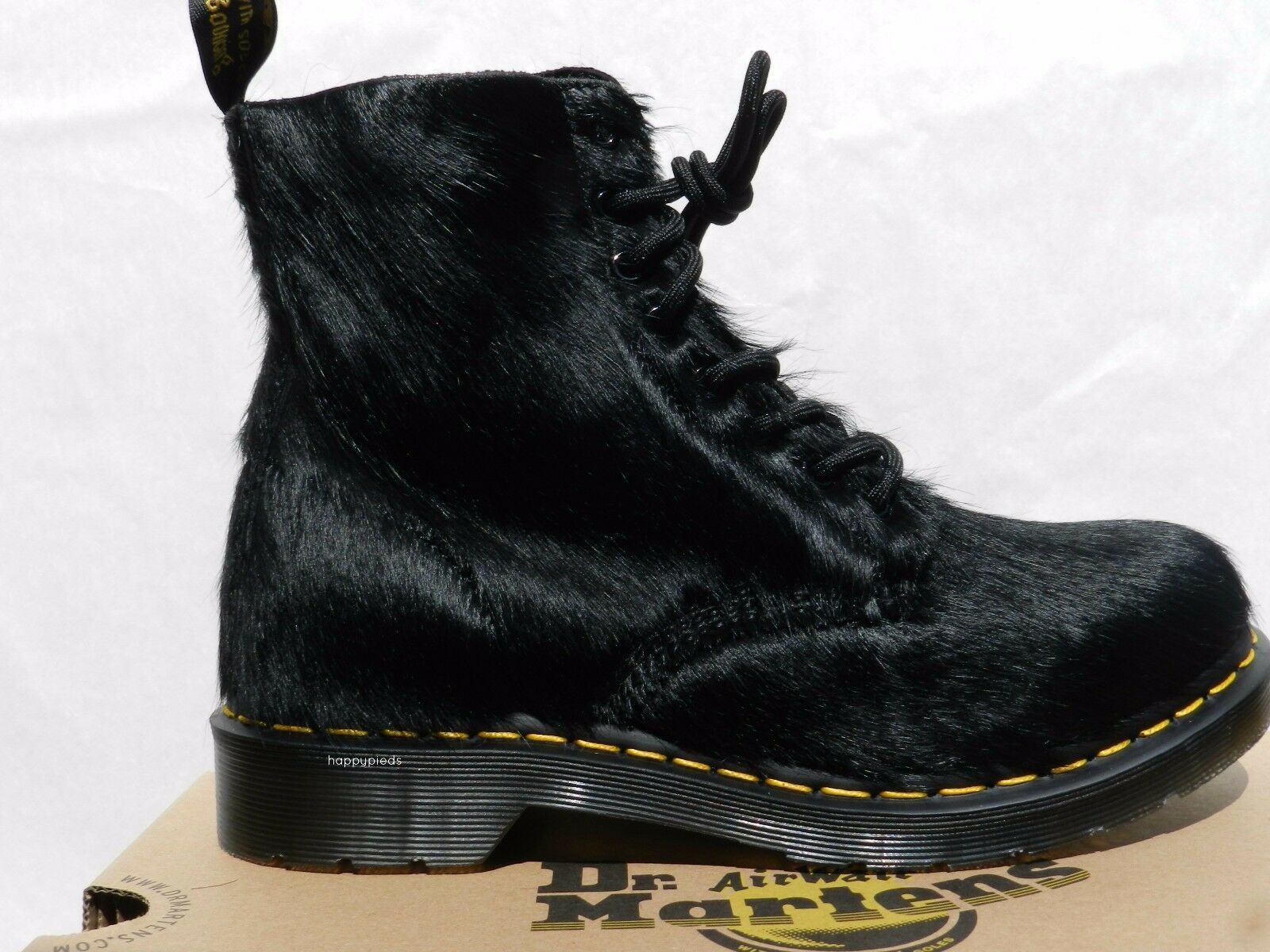 Dr Martens 1460 1460 1460 Peloso Horsey Chaussures Femme Homme 42 Bottes Hair UK8 Neuf 4a4eb8