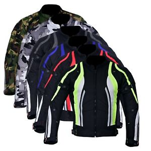 New-Men-039-s-Motorcycle-Motorbike-Jacket-Waterproof-Textile-With-CE-Armoured