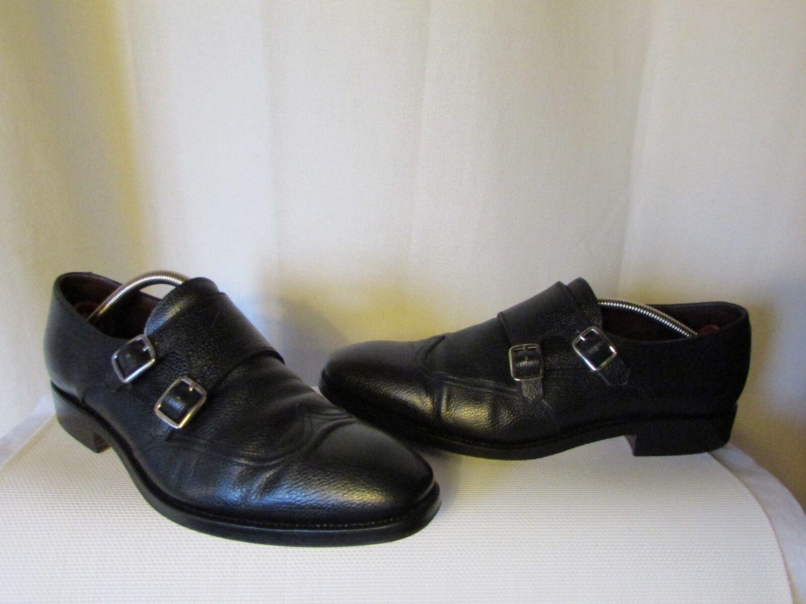 shoes Carmina by José Albalagejo Pujadas Leather Granulated Black Size 8