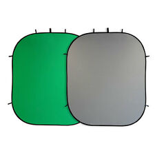 2-in1 Chroma-Key Falthintergrund Foto-Hintergrund 210x180 cm, grau/grün