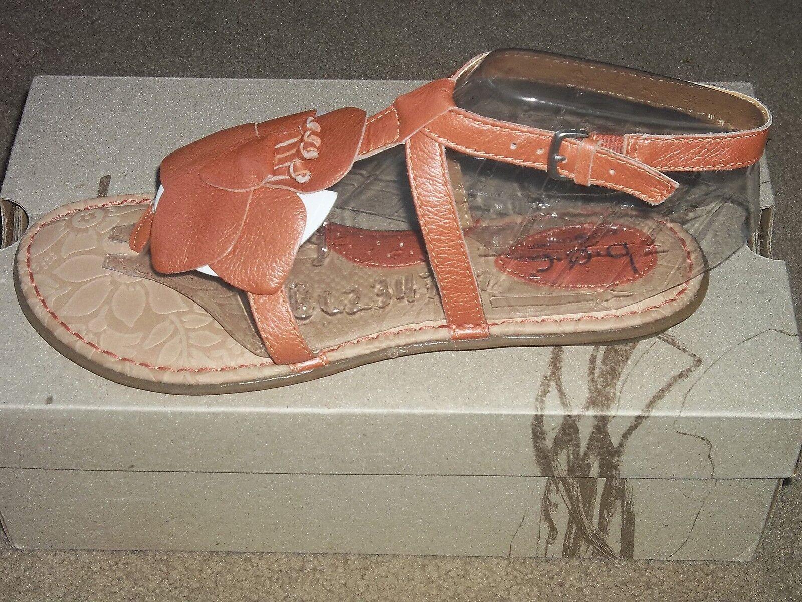Born Concept purple Hazel Flower Leather Strap Comfort Sandals New