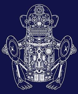 Mens T Shirt Musician Monkey Robot Fresh New Dj Style 100/% Cotton Funny Tee
