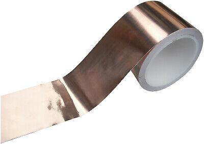 Conduzione Nastro Rame Foglio Adesivo 3-50mm 20M Elettrico Durevole Stupendo