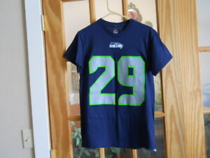 reputable site 7f48d 96184 Details about Mens Majestic Small NFL Seattle Seahawks Football Earl Thomas  III #29 EUC Shirt