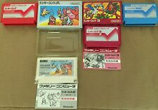 Donkey Kong FAMICOM Lot X SERIOUS COLLECTORS DK Math NES UNBELIEVABLE CONDITIONS