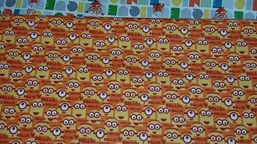 New-100/% Cotton Fabric-Despicable Me-Minions Design Fabrics-Various Designs