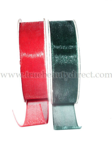 CHOOSE A SET IN 2 CRAFT 2 x ORGANZA RIBBON COLOURS FOR CRAFT /& HAIR /& GIFTS NEW