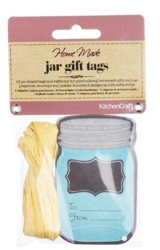 JAM//Chutney//Pickle//Homemade//Poison Kitchencraft pack 24 Jar//bottle balises /& Ties