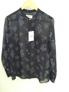 Antwerp Essentiel Button Muriel Size Blouse Black Down Purple 14 Print Floral Odwdqr