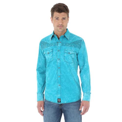 Wrangler MRC260G Rock 47® Long sleeve Spread Collar Solid Shirt //Teal