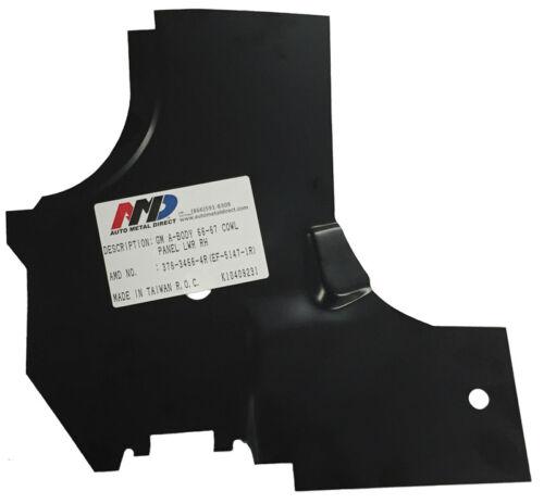 AMD RH 64-67 for GM A Body Cowl Side Door Jamb Hinge LOWER REINFORCEMENT Panel