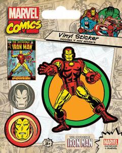 Film-fanartikel Marvel Comics Iron Man Retro Stickerset Sticker Aufkleber 10x12,5cm Waren Jeder Beschreibung Sind VerfüGbar