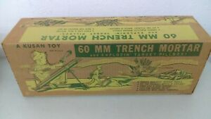 1960-039-s-Kusan-60-MM-Trench-Mortar-amp-Exploding-Pill-Box-Target-MIB-NRFB-Never-Used