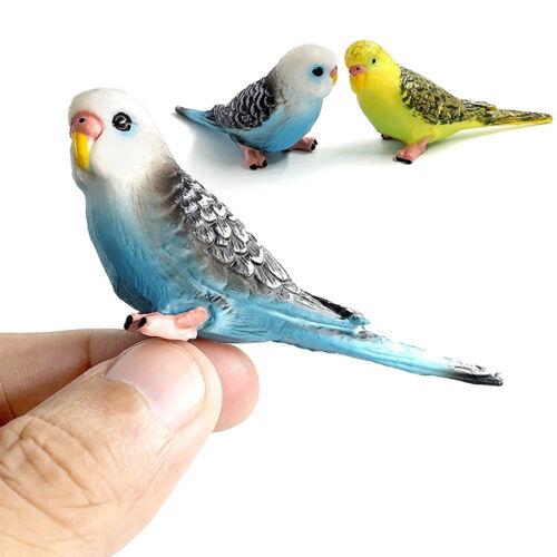 HK-Mignon Forêt PARROT Mini Modèle Animal Miniature Paysage Ornement Jardin Dec