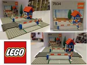 Gioco-Game-Play-Set-LEGO-Legoland-1980-Set-7834-Train-Level-Crossing-Vintage