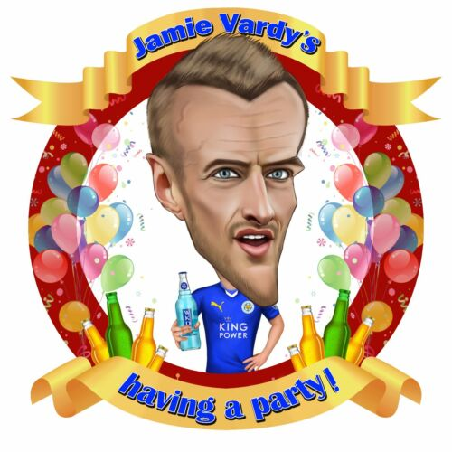 lapel badge Leicester City Jamie Vardy is having a party caricature enamel pin