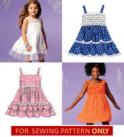 Sewing Pattern Make Boutique Style Dress Child 3 To Girl 14 Summer Clothes