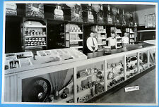 """12 By 18"""" Black & White Picture 1934 Ford New Car Dealder Parts Display"""