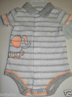 First Moments Infant Baby Boy's Creeper Bodysuit Elephant 3m 6 Months $12