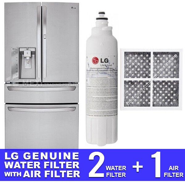 2X 2X 2X LG GENUINE FRIDGE FILTER FOR GF-AD910SL + LG AIR FILTER LT120F 381194