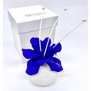 Rafraichisseur-D-039-Air-en-Porcelaine-Petales-Bleu-Effet-Velours-Bonbonniere-0WVX