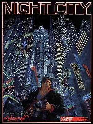 Città Del Cyberpunk Rpg Notte-mostra Il Titolo Originale Rinfrescante E Benefico Per Gli Occhi