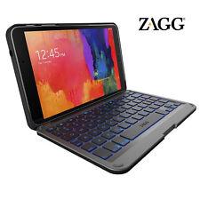 """ZAGG Folio Case Hinged with Backlit Bluetooth Keyboard Samsung Galaxy Tab 4 8.0"""""""