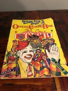 Details about Vintage Ringling Bros and Barnum & Bailey Circus coloring  book 1984 Used