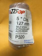 100 Norton 5 Sanding Paper Disc Roll A275 P320 Sticky Back