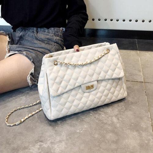 2029 Elegante Sera Bianco Pochette Pelle Simil Catena Donna Tracolla Borsa 6vazOz